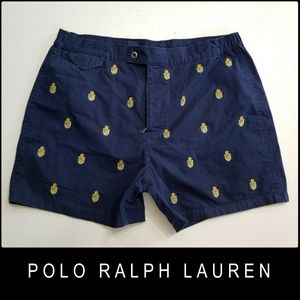 Polo Ralph Lauren Men Flat Front Shorts Blue